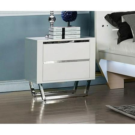 New Classic Furniture Matrix Snow White 2 Drawer Nightstand