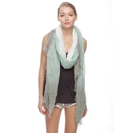 Sassy Scarves Women's 4 Side Tie Dye Design Oblong Scarf