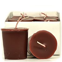 Leather Pipe and Woods Votive Candles Votive Candles Pack: 12 per box 1.75 in. diameter x 2 in. (Two's Company Halloween Candles)