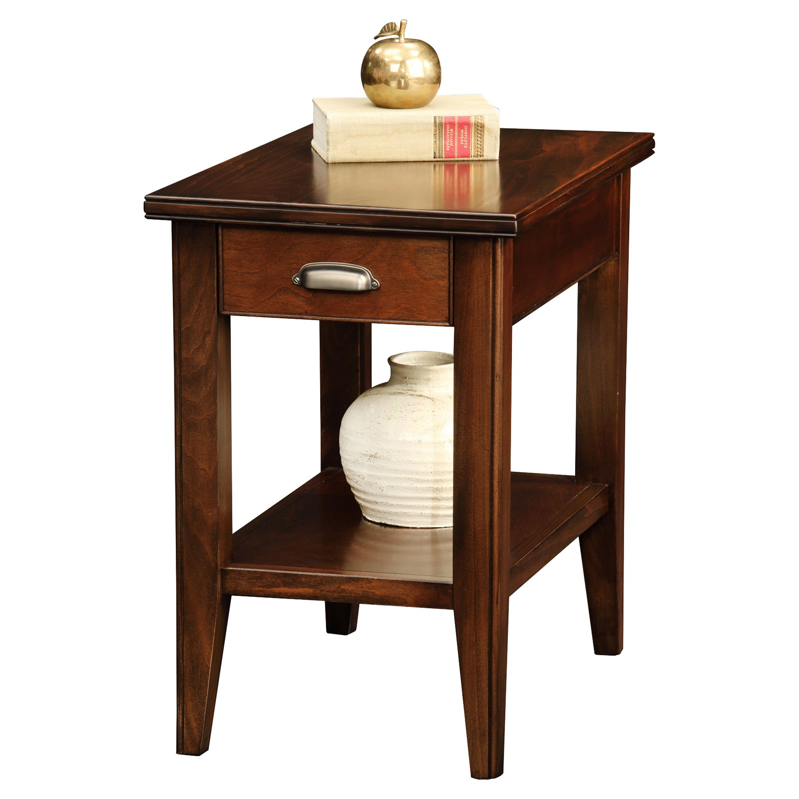 Leick Home Drawer Chairside Table Walmart Com