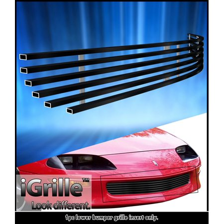 Fits 93-97 Chevy Camaro Black Stainless Steel Billet Grille Insert (Chevy Camaro Billet Grille)