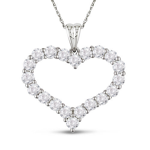 Amour Rope Chain Round Cut Four and Five Eighths of a Carat Gemstones and Topaz Pendant