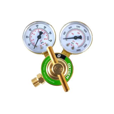 Oxygen 540 Regulators - SÜA - Oxygen Regulator Welding Gas Gauges - CGA-540 - Rear Connector - LDB series