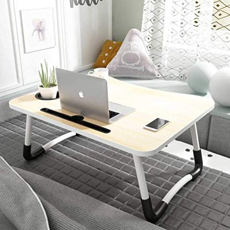 Widousy Laptop Bed Table Breakfast Tray with Foldable Legs Portable Lap Standing Desk Notebook Stand Reading Holder - image 2 of 5