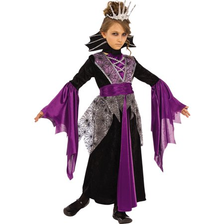 Queen Vampire Evil Queen Girl Child Purple Halloween Costume for $<!---->