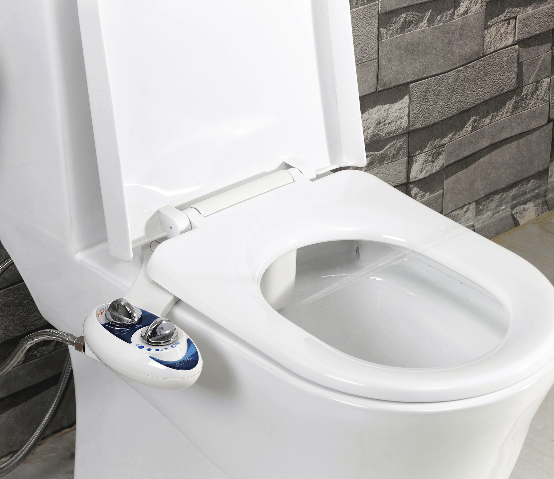 Luxe Bidet Neo 120 Luxury Fresh Water Self-Cleaning Non-Electric ...