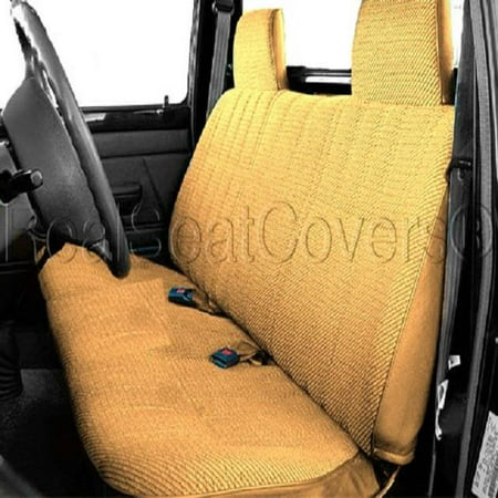 Amazing Seat Cover For Toyota Pickup 1990 1995 Front Solid Bench Thick Triple Stitched A23 Molded Headrest Beige Tan Ibusinesslaw Wood Chair Design Ideas Ibusinesslaworg