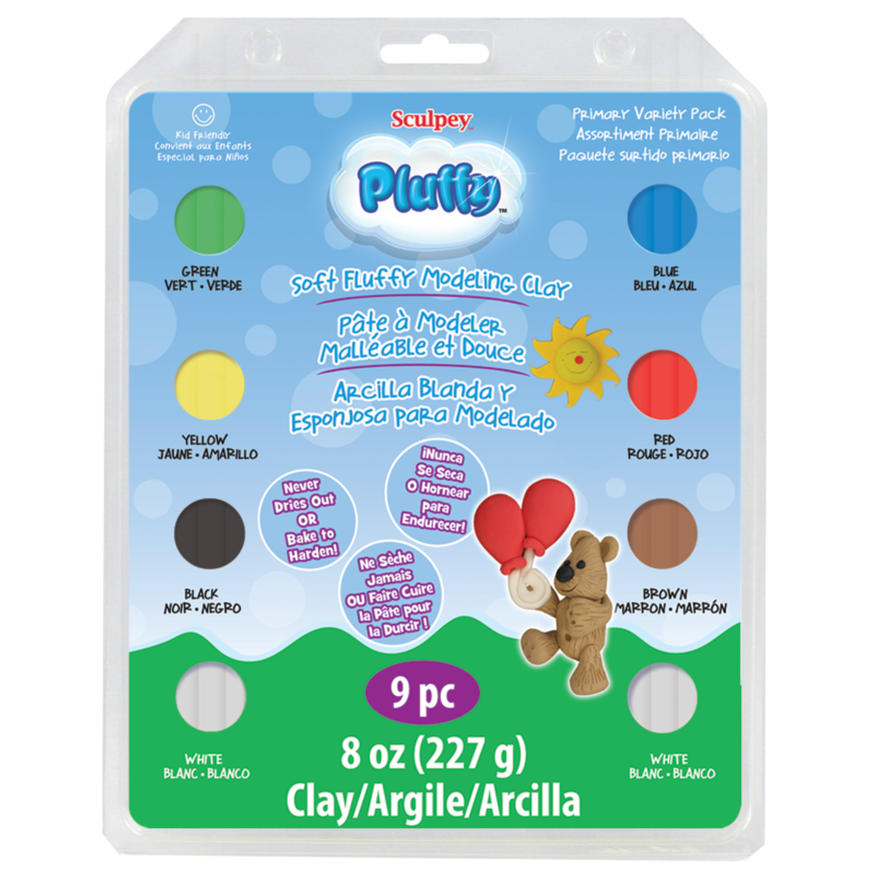 Sculpey Pluffy Variety Pack, Primary