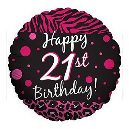 21ST BIRTHDAY party BLACK hot PINK ZEBRA print CHEETAH leopard POLKA DOTS (Pink Cheetah Print)