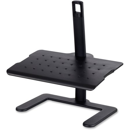 Safco, SAF2129BL, Adjustable-Height Footrest, 1 Each, Black