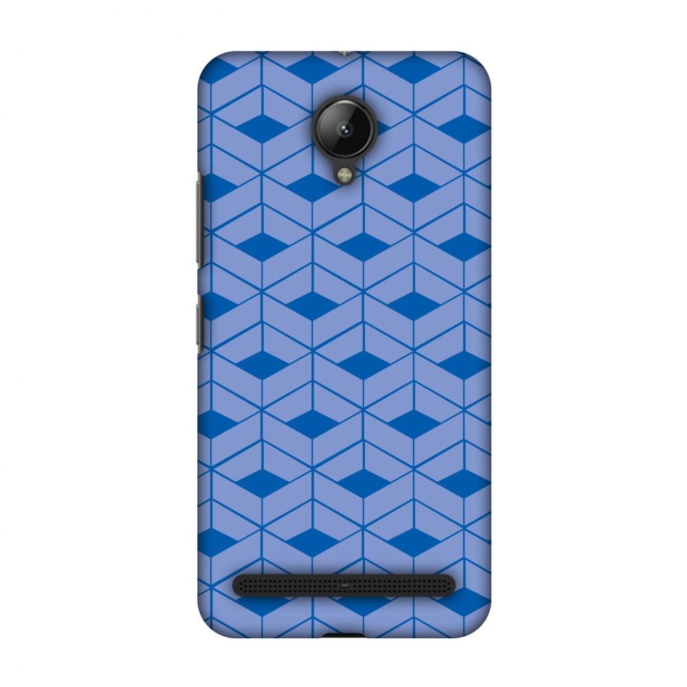 Lenovo C2 Case, Premium Handcrafted Designer Hard Shell Snap On Case Printed Back Cover with Screen Cleaning Kit for Lenovo C2, Slim, Protective - Carbon Fibre Redux Coral Blue 9
