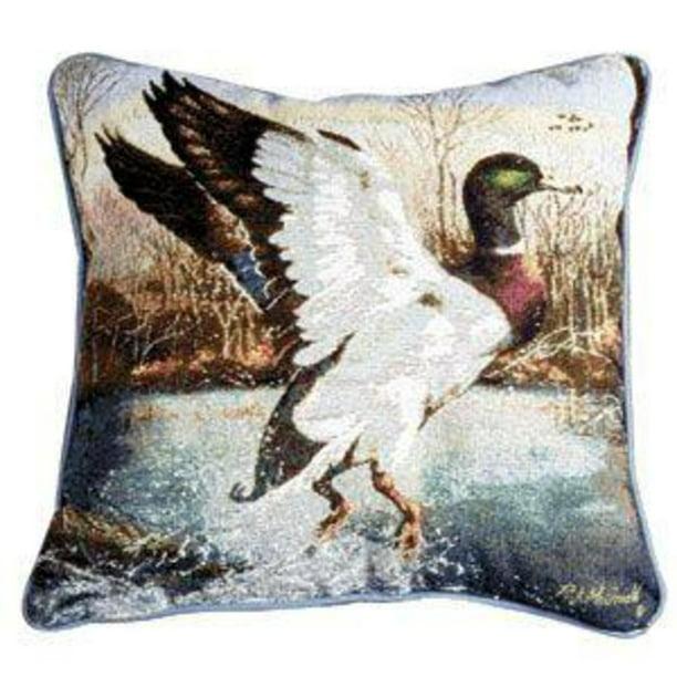 Jump Start Mallard Duck Decorative Accent Throw Pillow 17 X 17 Walmart Com Walmart Com