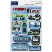 Cardstock Stickers-Swimming Is My Sport