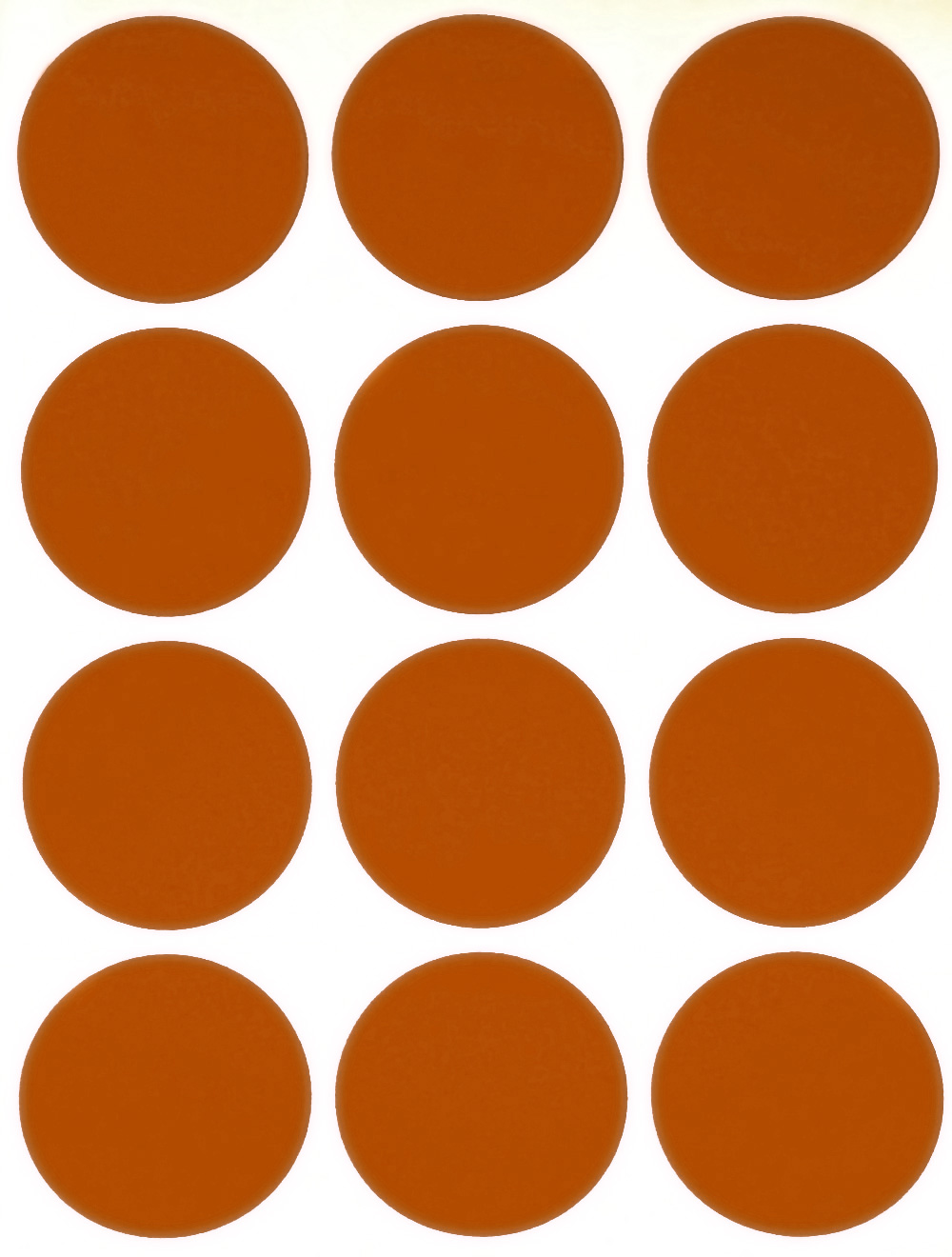"ORANGE 1/"" Round Stickers Color Code Inventory Label Dot Stickers Package Seals"