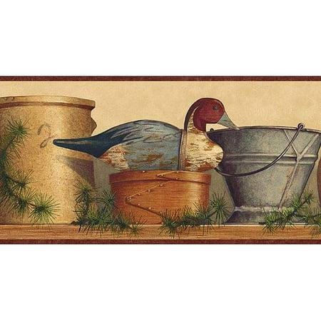 877866 Crocks, Ducks,  Baskets Wallpaper Border TC48113b](Donald Duck Halloween Wallpaper)