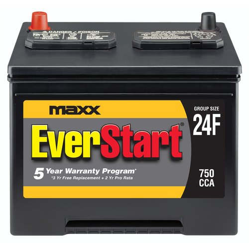 Everstart Maxx Lead Acid Automotive Battery Group Size 24f
