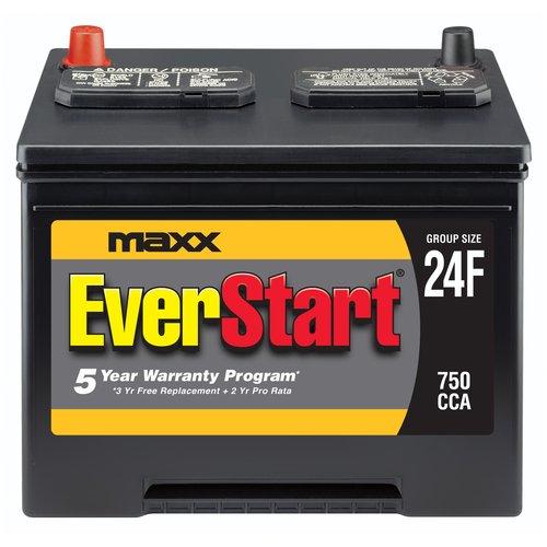 Everstart Maxx Lead Acid Automotive Battery Group 24f