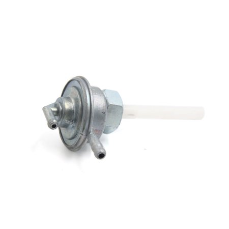 Silver Tone Motorcycle Fuel Tap Valve Petcock Switch Assembly for CY6-125 - image 1 of 2