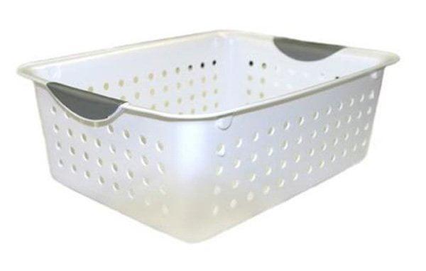 Sterilite 16248006 Medium Ultra Plastic Storage Organizer Basket White (30 Pack) - image 5 de 6