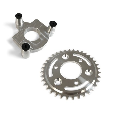 36 Tooth CNC Sprocket & 1 0 Inch Adapter Assembly for 80CC Gas Motorized  Bicycle