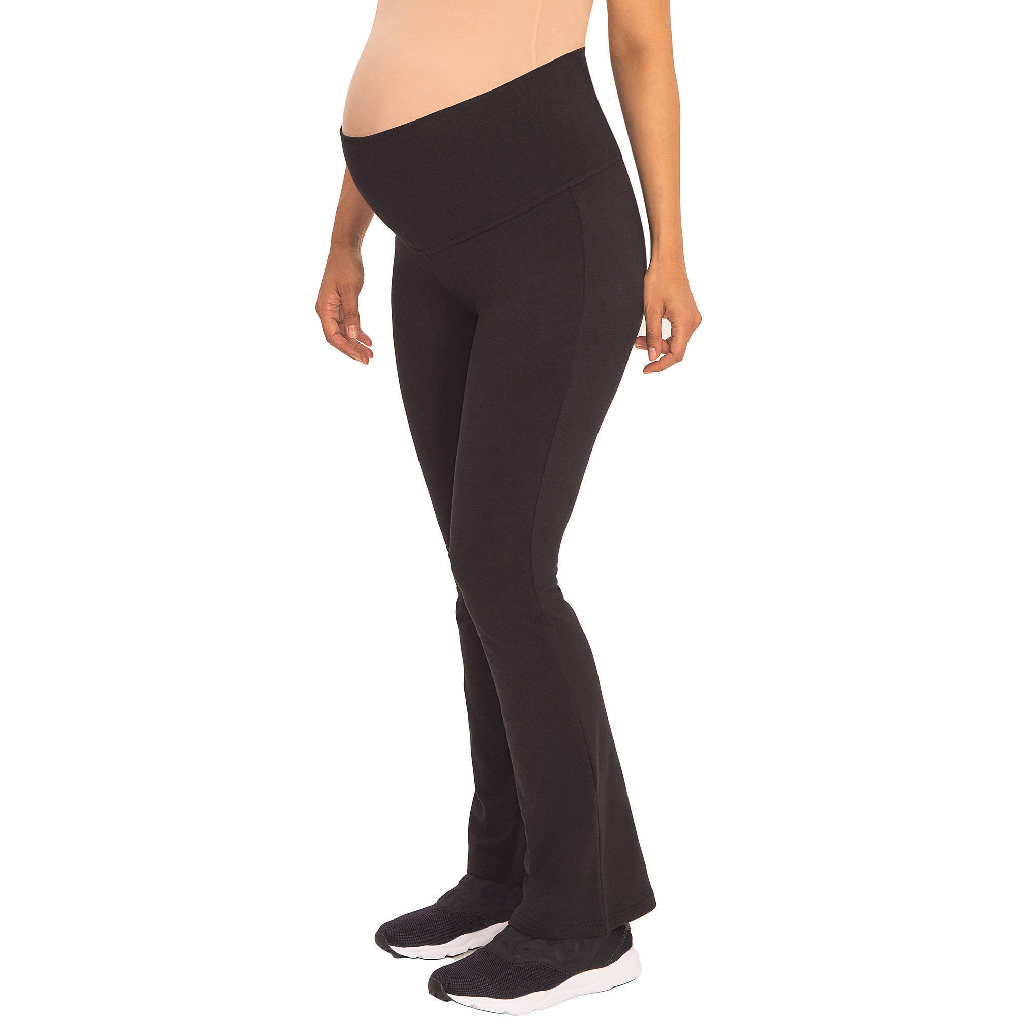 Great Expectations Maternity Yoga Pants with Roll Down Waistband