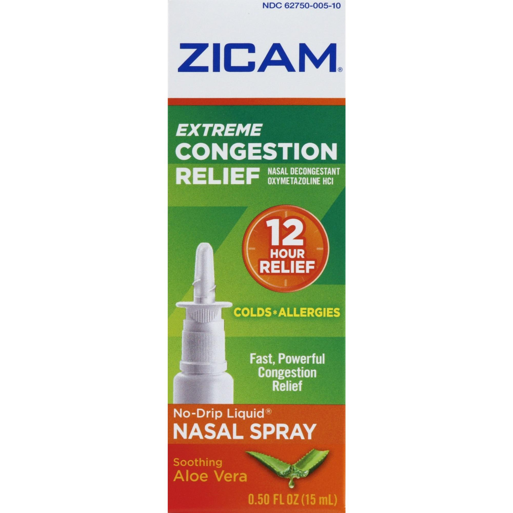 Zicam Extreme Congestion Relief No-Drip Liquid Nasal Gel with Soothing Aloe Vera, 0.5 Ounce - Nasal Decongestant