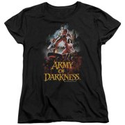 Mgm Army Of Darkness Bloody Poster Womens Short Sleeve Shirt Black