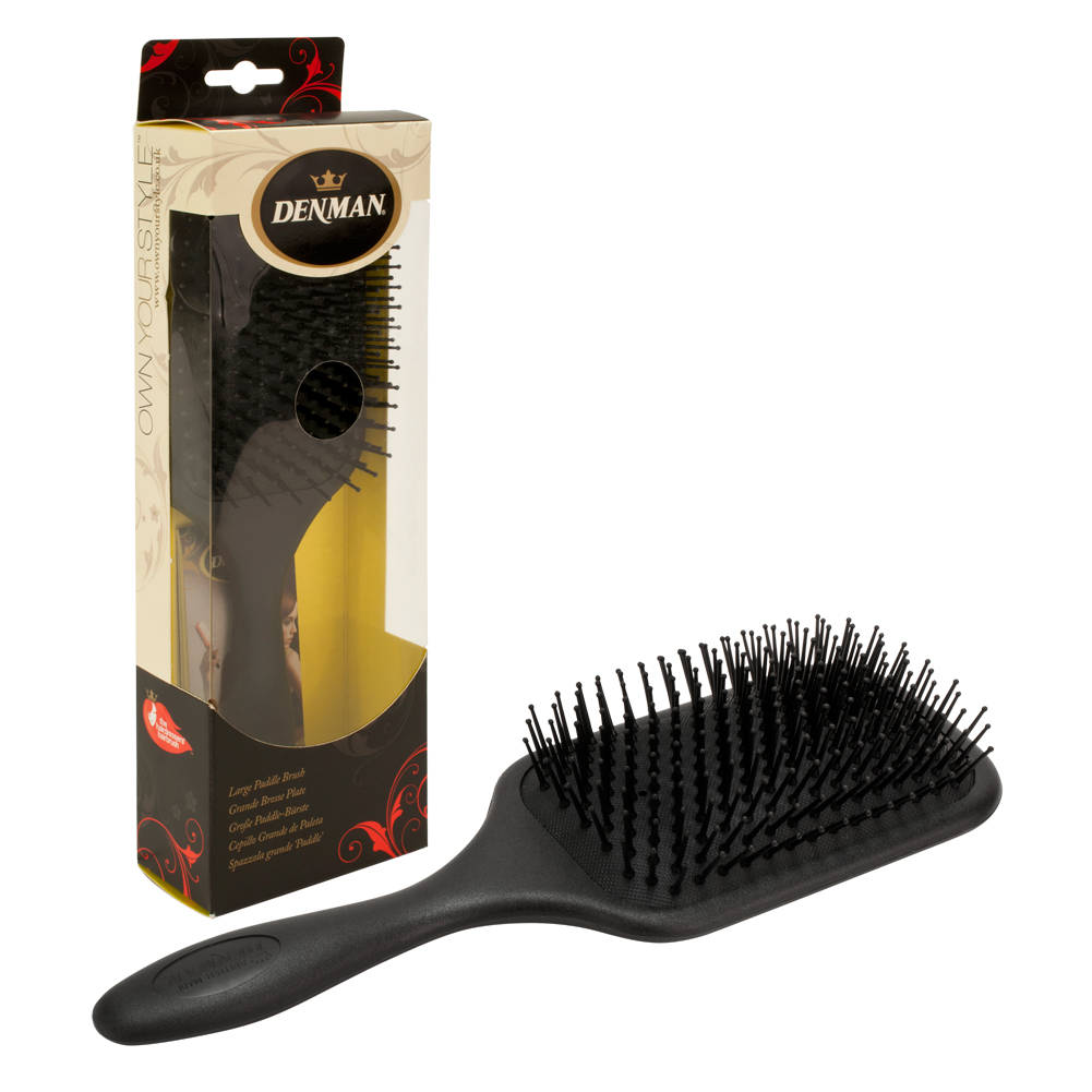 Denman Large Cushioned Paddle Hair Brush D83S, BLACK, P083SXCD