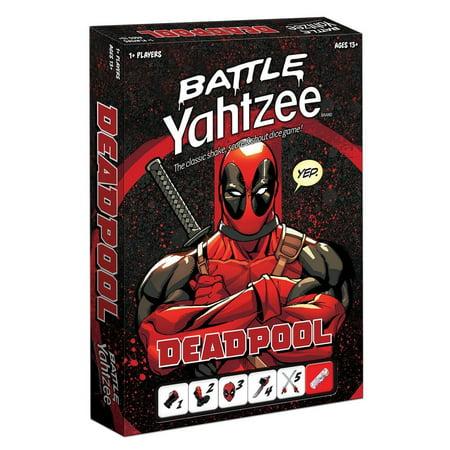 Battle Yahtzee  Deadpool Board Game Marvel Classic Family Fun Usaopoly Yz011 464