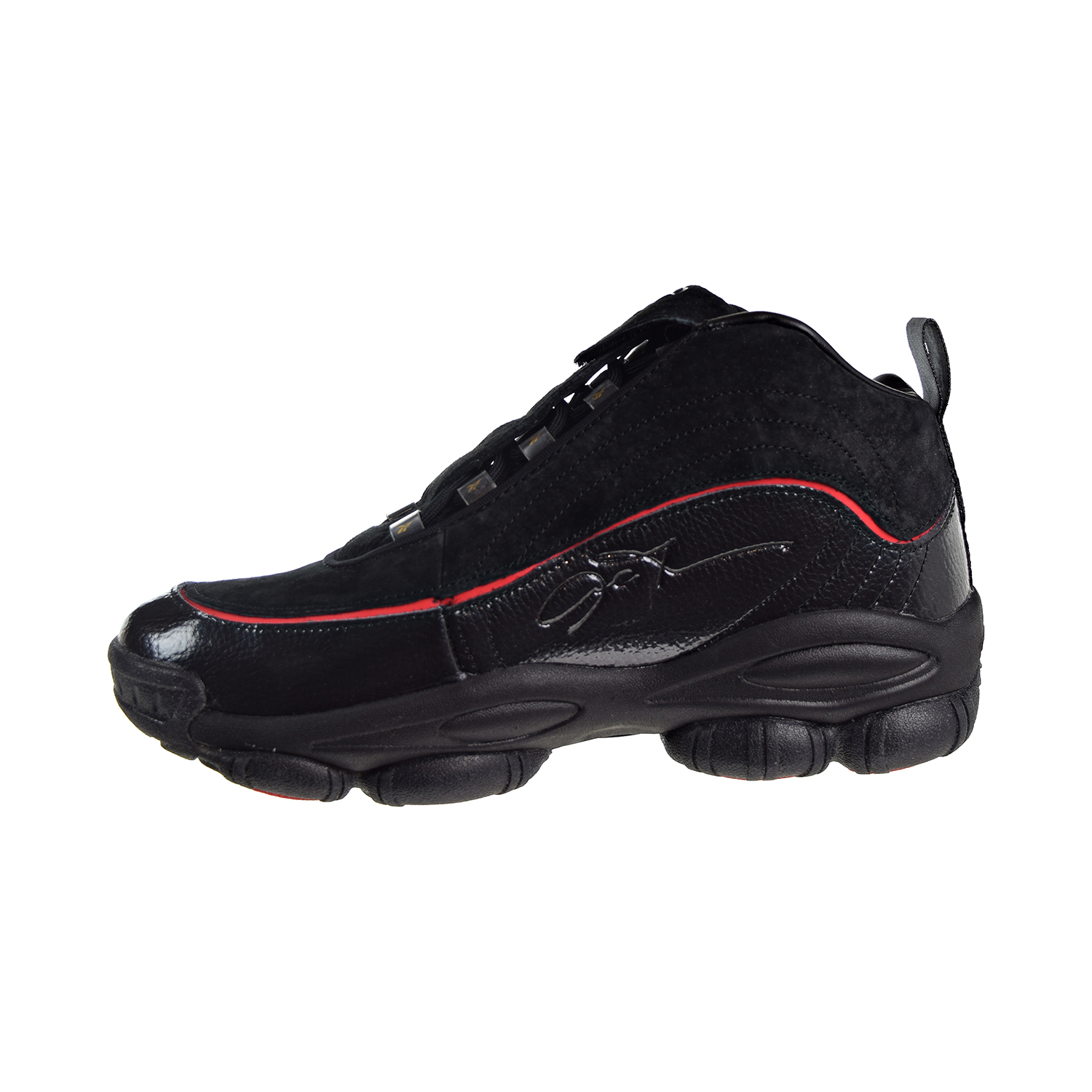 Reebok Iverson Legacy Men/'s Shoes Black-White-Red-Brass CN8404