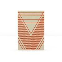 MoDRN Natural Boho Rustic Red Lines Canvas Print