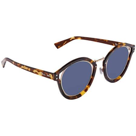 Dior Elliptic Blue Round Ladies Sunglasses DIORELLIPTIC TZ8/KU (Very Dior Sunglasses)