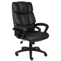 Boss Office Home Black Ntr Executive Top Grain Chair With Knee Tilt