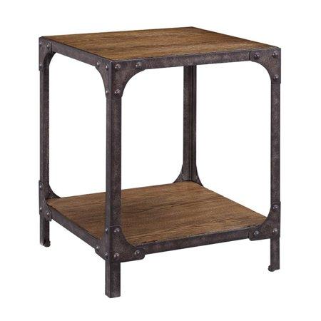 Pulaski Irwin Wood And Metal End Table In Brown