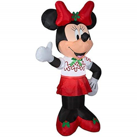 Gemmy Inflatable Minnie Mouse 6Ft. Tall with Red Bow Outdoor Holiday Christmas Decoration