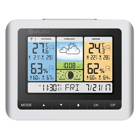Wireless Weather Station Home Thermometer Usb Outdoor Forecast Sensor Clock