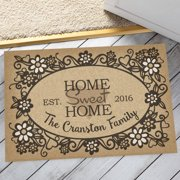 Personalized Oversized Doormat - Home Sweet Home