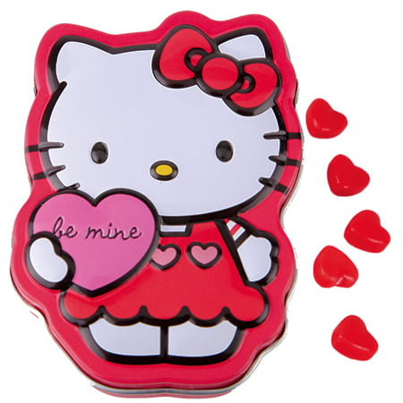 Hello Kitty Sweet Hearts Candy Tin - Sweet Tart Candy