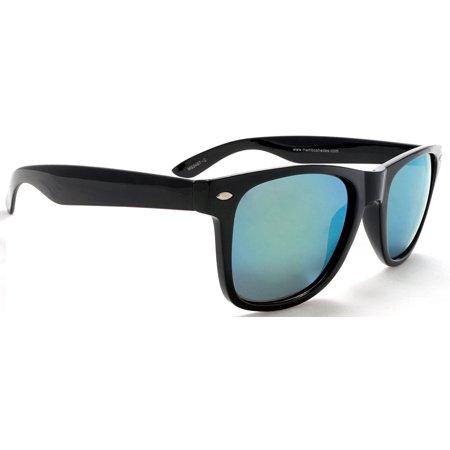 9f1da3b5e12ec Mambo Shades - Unisex Polarized Mirror Sunglasses - MIB Style - Black