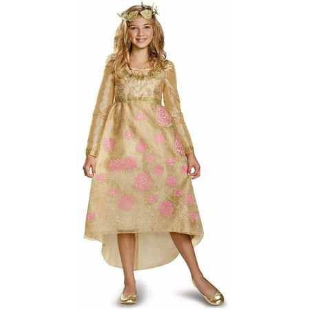 Maleficent Aurora Coronation Deluxe Girls Child Halloween Costume
