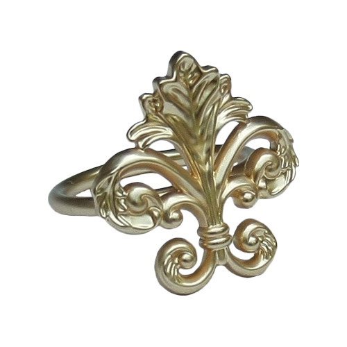 Manor Luxe Fleur de Lis Elegant Napkin Ring (Set of 4)