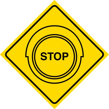 - Aluminum Yellow Diamond Notice Stop Traffic Light Ahead Road Sign Commercial Metal Square Sign, 12x12