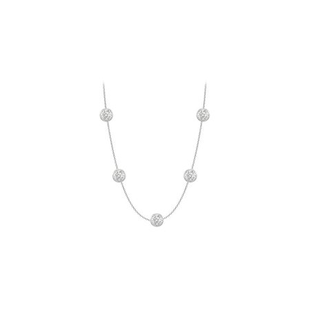 Five Station 5.00 ct Cubic Zirconia Necklace - image 8 of 8