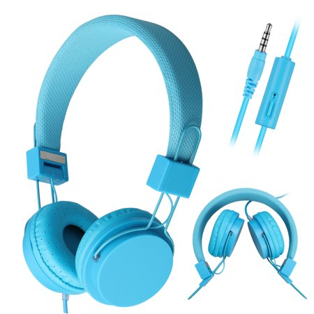 Kids Wired Over Ear Headphones Headset Headband Earphones Foldable for Phone PC