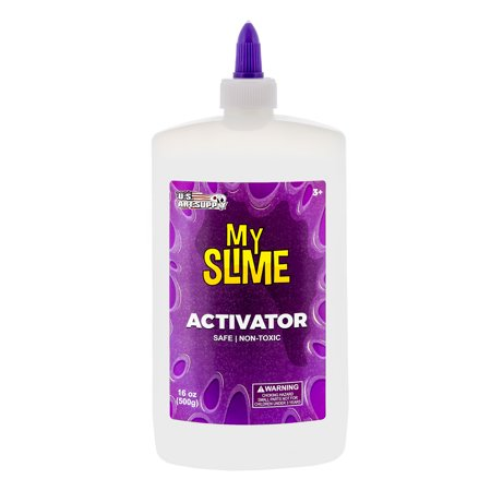 My Slime Activator Solution 16 Ounce Bottle - Make Your Own Slime, Just Add Glue - Kid Safe, (Slime Recipe With Contact Solution And Glue)