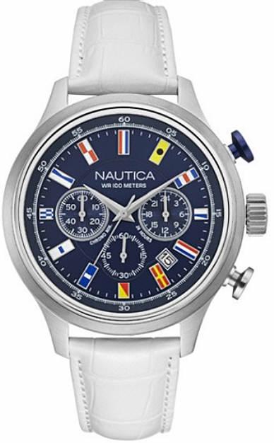 Men's Nautica Chronograph Flags Analog Display Watch NAD16521G by Nautica