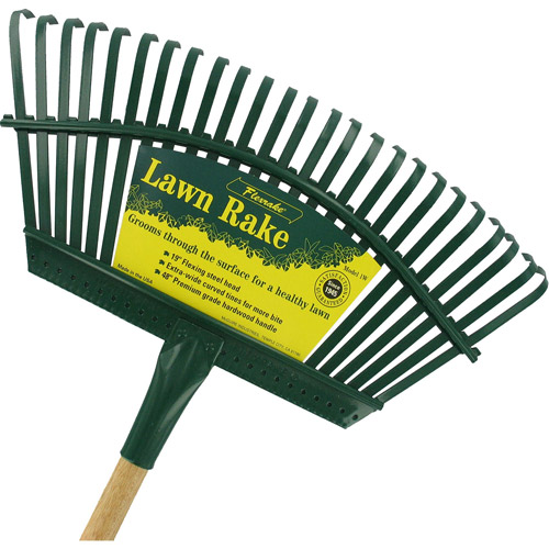 Flexrake 1W 48 in Handle 19 in Steel Head Lawn Rake