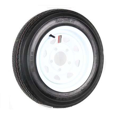 Trailer HD Tire On Rim 4.80-12 480-12 4.80 X 12 LRC 5 Lug Wheel White Spoke