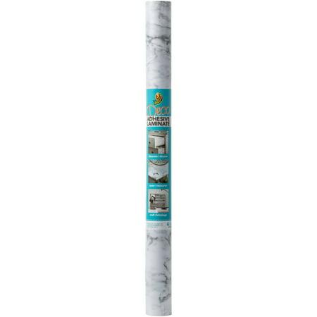 EasyLiner Adhesive Laminate 20 In. x 12 Ft. Shelf Liner, Grey Marble ()