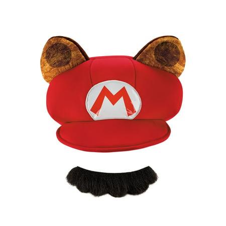 RACCOON CHILD HAT & MUSTACHE](Kids Mustache)